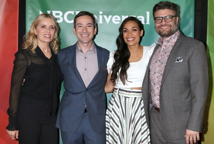 Briarpatch cast members Kim Dickens, Andy Greenwald, Rosario Dawson, and Jay R Ferguson