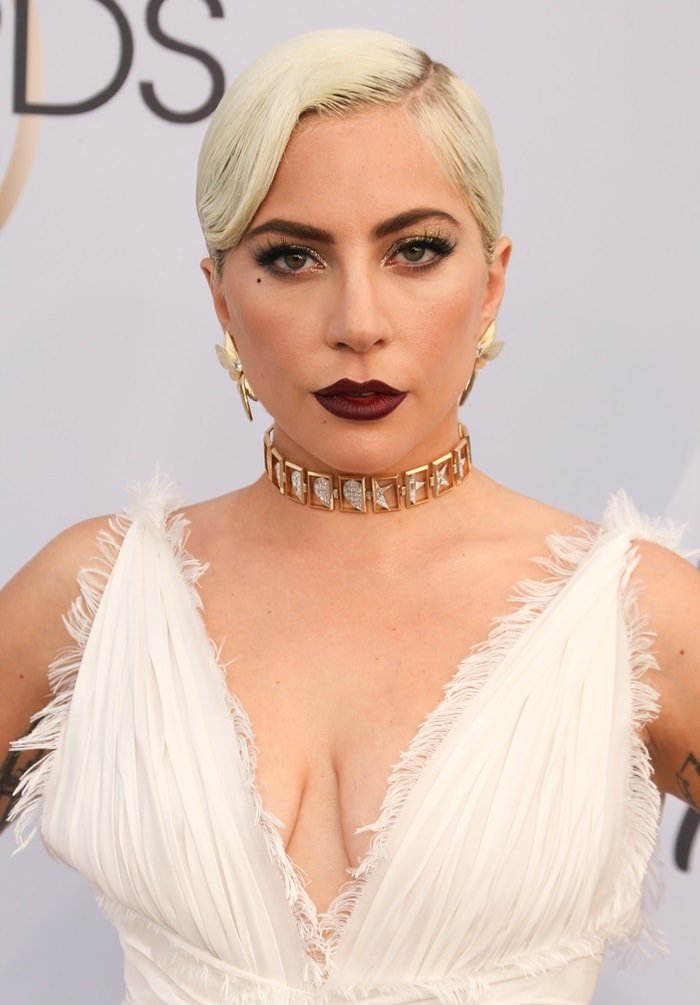 Lady Gaga's Tiffany & Co Blue Book Collection jewelry at the 2019 Screen Actors Guild Awards