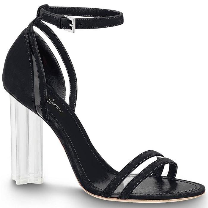 Louis Vuitton Silhouette PVC-and-Suede Sandals in Noir