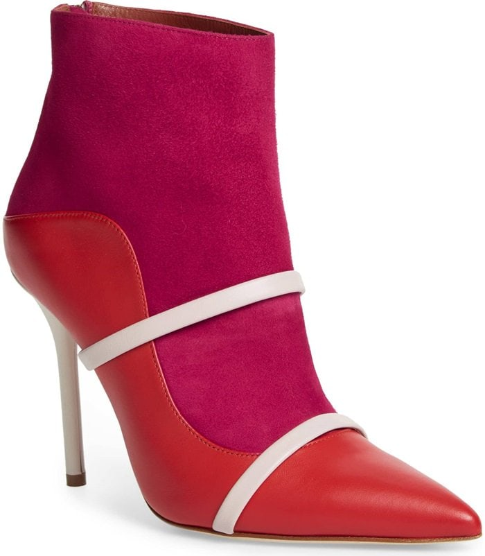 Cherry Red/White Madison Ankle Boots
