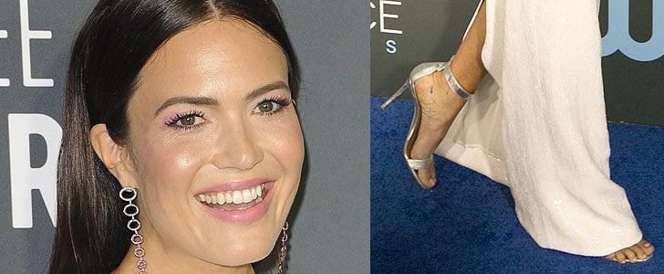 Mandy Moore Shows Underboob in Fat-Pinching Dress & 'Portofino' Heels