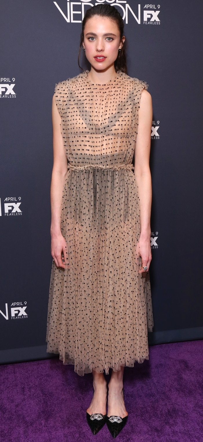 Margaret Qualley's ugly dress at the premiere of Fosse/Verdon