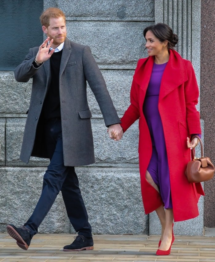 Meghan Duchess of Sussex, Meghan Markle, Prince Harry, Harry Duke of Sussexwowed the crowds as they appeared on their first royal visit of the year in Birkenhead, England, on January 14, 2019