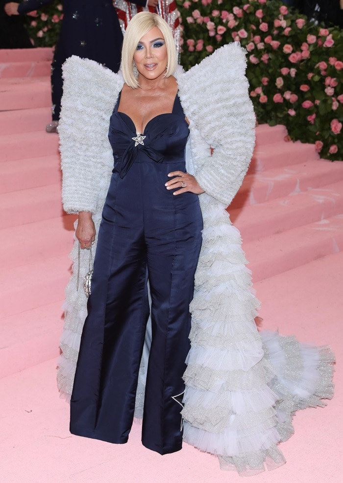 Kris Jenner was a blonde bombshell on the pink carpet at the 2019 Met Gala