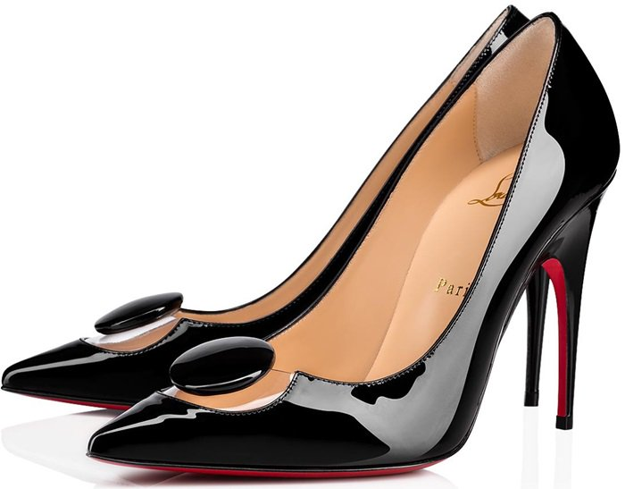 Designed on Christian Louboutin's popular Décolleté style, you can't go wrong with this elegant black patent leather pump