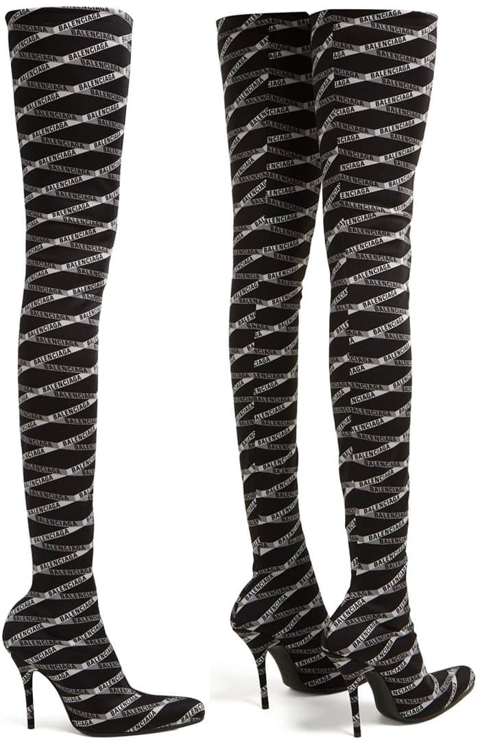 balenciaga jersey boots