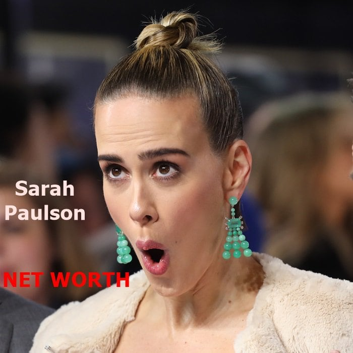 Sarah Paulson makes this face every time she sees her bank statement