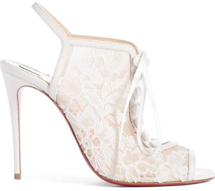 Snow White Mariee A Colmar Lace & Leather Sandals