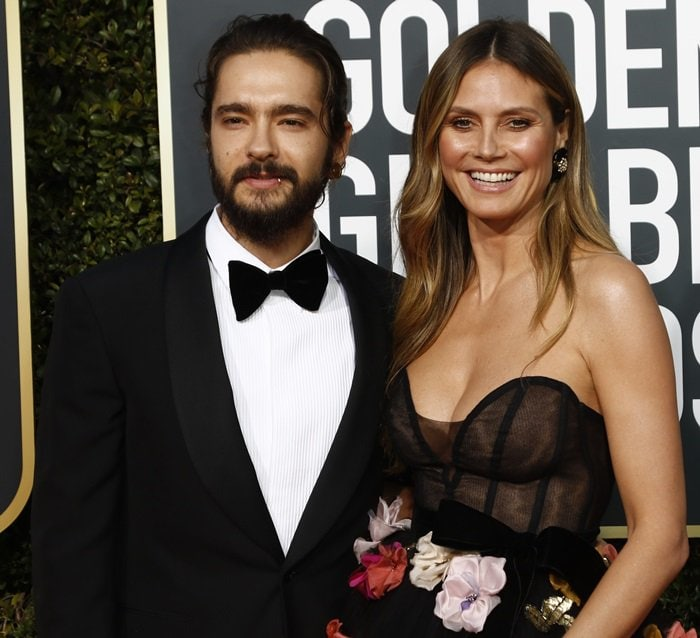 Model Heidi Klum and her new fiance, Tokio Hotel guitarist Tom Kaulitz, coupled up for the 2019 Golden Globe Awards at the Beverly Hilton Hotel in Beverly Hills, California, on January 6, 2019