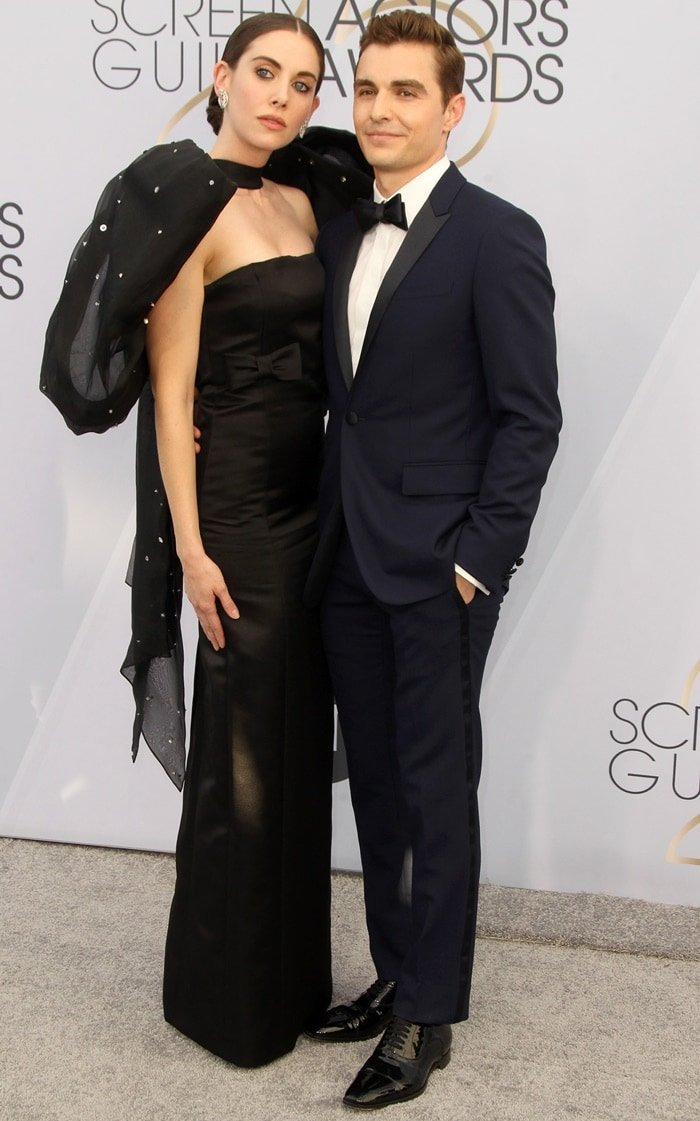 Alison Brie and husband Dave Franco at the 2019 Screen Actors Guild Awards held at the Shrine Auditorium in Los Angeles on January 27, 2019