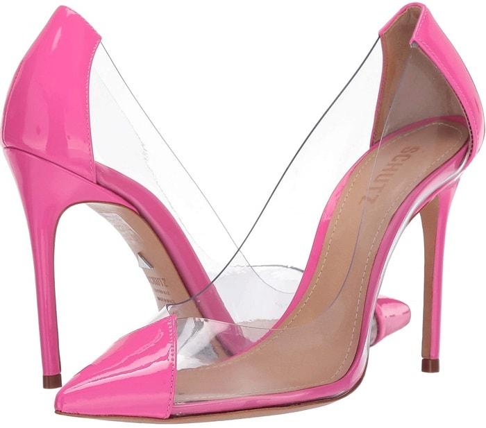 Neon Pink Cendi Transparent Pumps