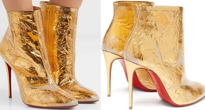 c681f5b7b1a Booty Cap Metallic Crinkled-Foil and PVC Ankle Boots. Fans of Christian  Louboutin ...