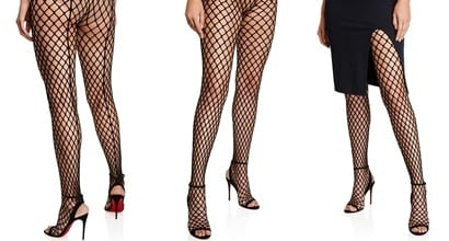 706007c0a31 Zoom Sandal Boots With Over-the-Knee Fishnet Tights by Louboutin