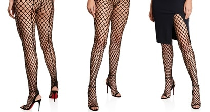 6540ee7d3 Zoom Sandal Boots With Over-the-Knee Fishnet Tights by Louboutin