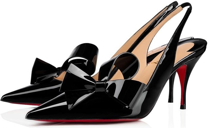 Clare Nodo 80 Patent Leather Slingback Pumps