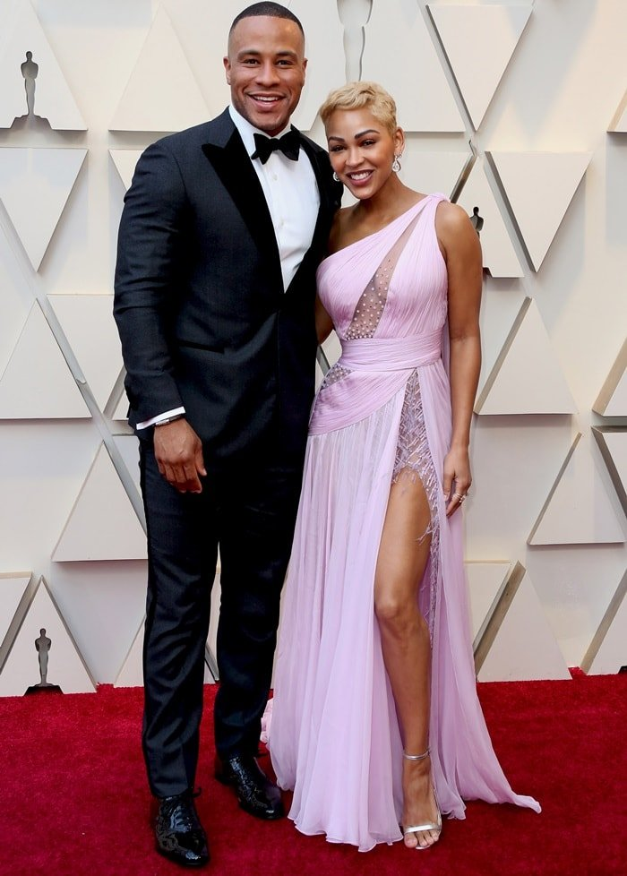 DeVon Franklin and Meagan Good at the 2019 Academy Awards at the Dolby Theatre in Los Angeles on February 24, 2019
