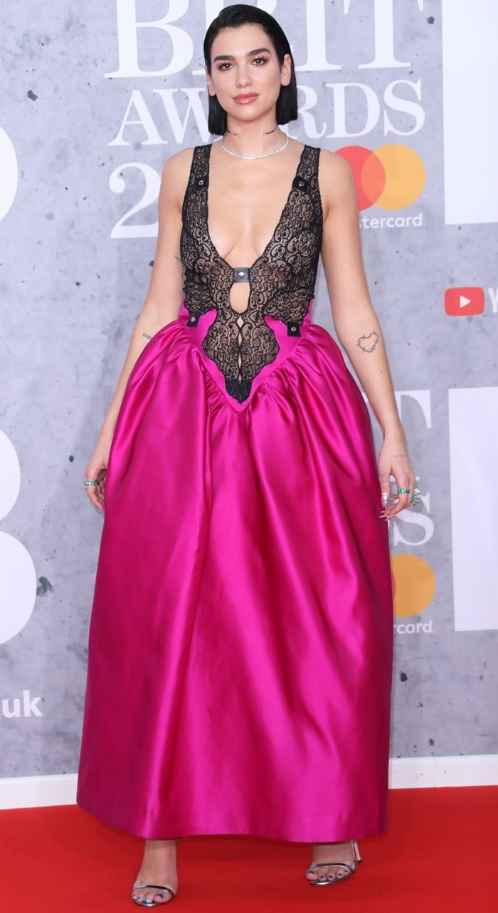 Dua Lipa at the 2019 BRIT Awards held at The O2 Arena in London, England on February 20, 2019