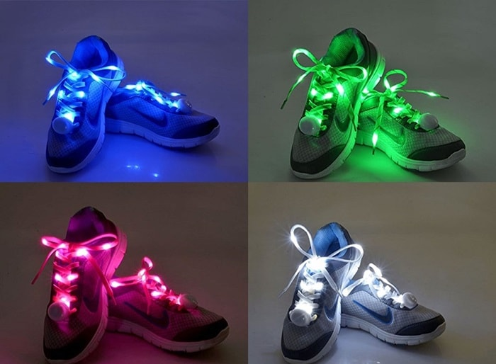 Made of nylon, these light up shoelaces are very easy to tie and perfect for parties, evening activities, nighttime running, and Halloween outfits