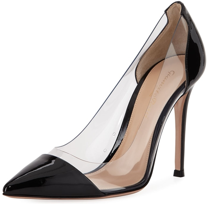 Gianvito Rossi Plexi Patent PVC Illusion Pumps
