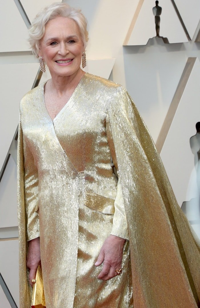 Glenn Close's dress features almost four million glass bugle beads