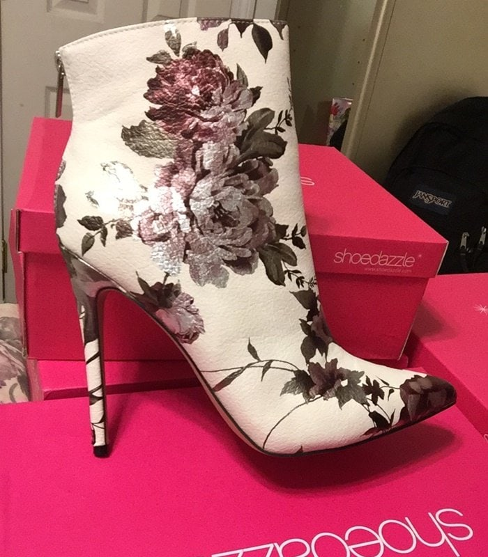 Floral Irene Stiletto Ankle Booties