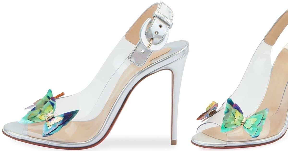 66c2cfbea093 Ilcepoze See-Through Pumps With Butterflies by Christian Louboutin