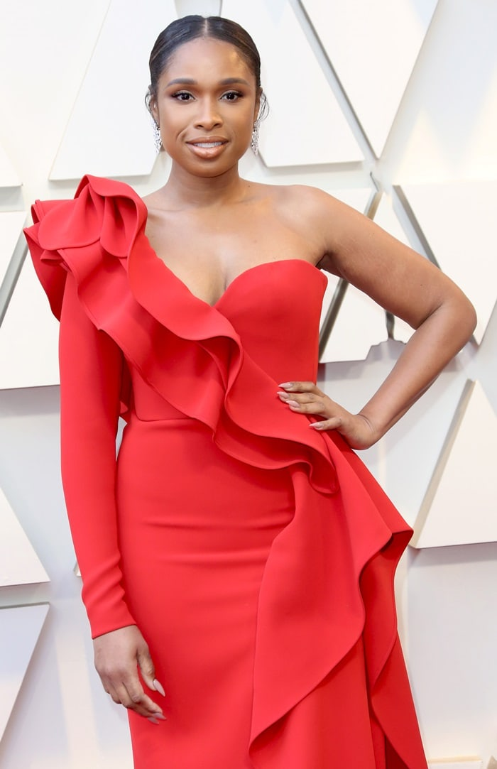 One fashion critic said the ruffles made Jennifer Hudson look like a circus clown