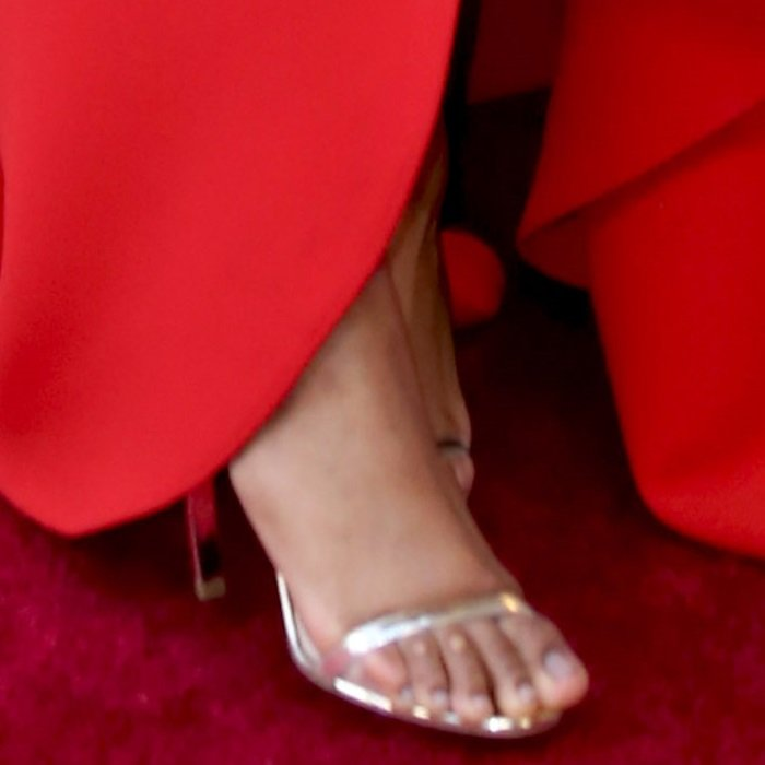Jennifer Hudson's corn-filled toes in Nicholas Kirkwood sandals