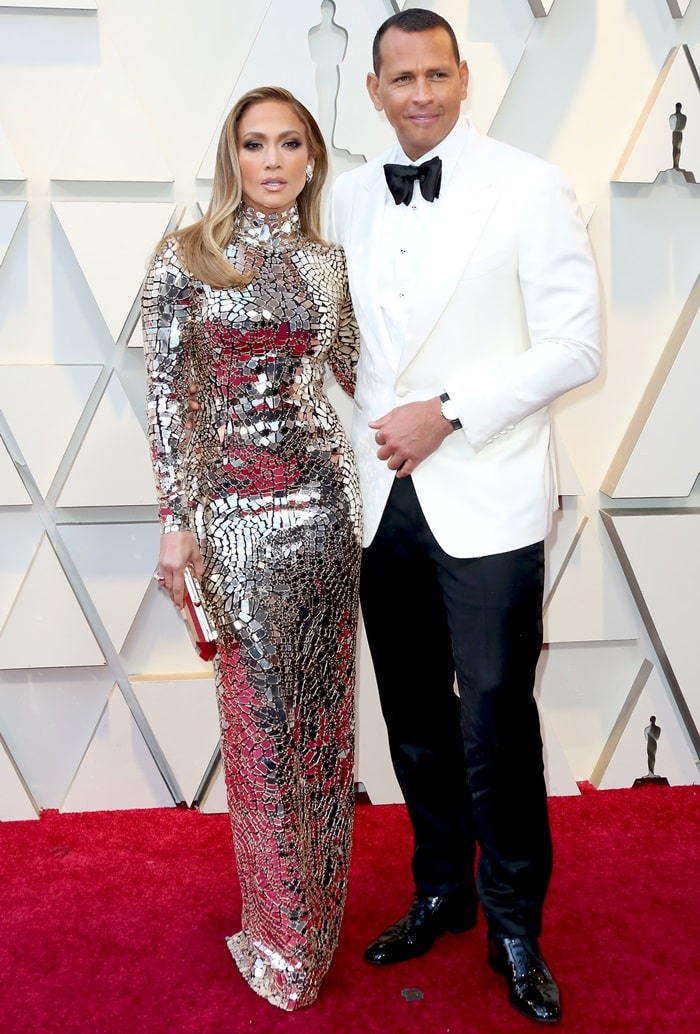 Jennifer Lopez was joined by her boyfriend Alex Rodriguez at the 2019 Academy Awards at the Dolby Theatre in Los Angeles on February 24, 2019