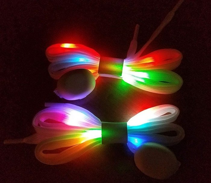 LED Light Up Shoelaces With Multicolor Flashing