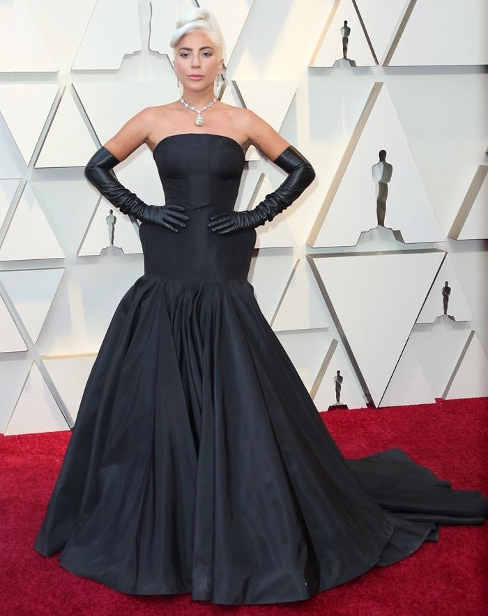 Lady Gaga's dramatic Alexander McQueen gown designed by Sarah Burton
