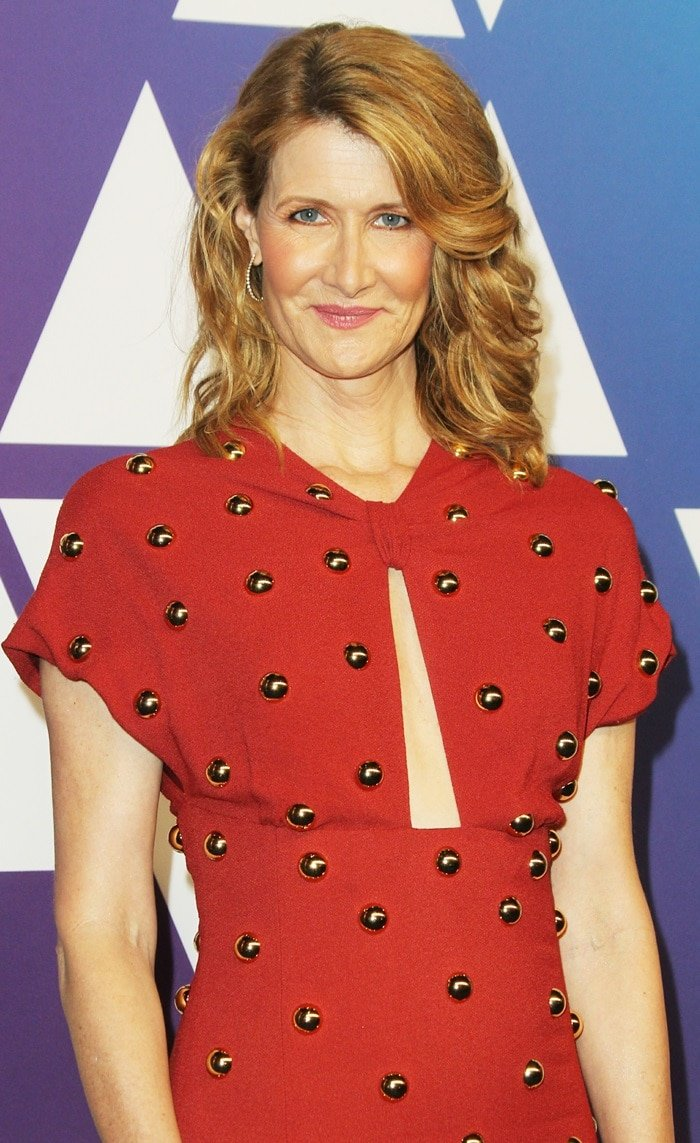 Laura Dern's Proenza Schouler dress with Dalek buttons and keyhole