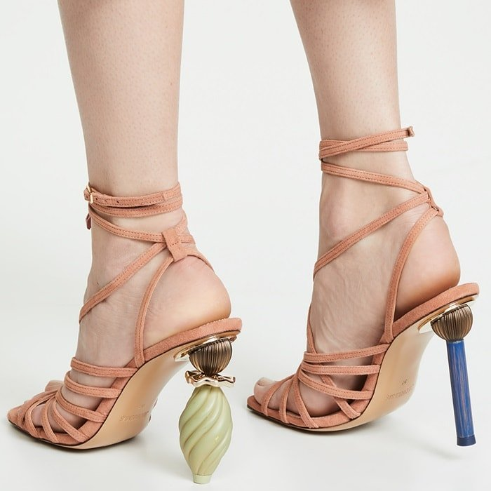 Imaginative, sultry, contemporary — words that define the artfully crafted Pisa sandals from Jacquemus