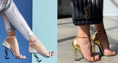 55da018210a Vicky Chain Crossbody Bag and Opyum YSL Logo-Heel Sandals