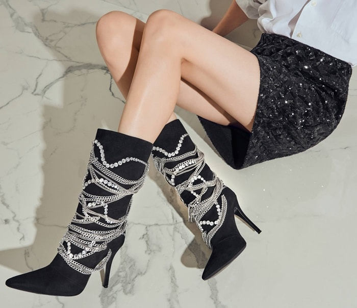 GIUSEPPE ZANOTTI Notte chain boots