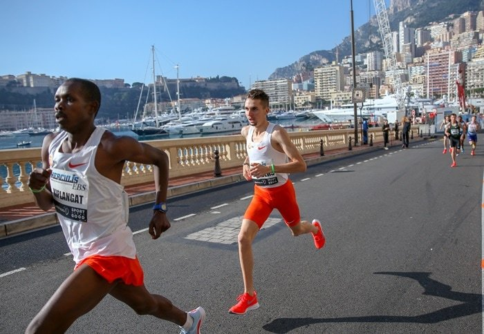 Swiss contender Julien Wanders set world 5km IAAF record during the Herculis 5km race along the Monaco coastline on February 17, 2019