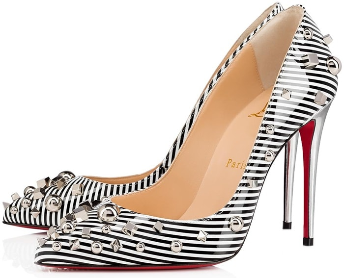 The Aimanta pump reveals its bold silhouette with elegance