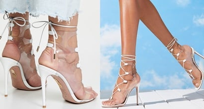 3bed7bb4044 Make Your Legs Look Longer in Milos Cutout PVC and Leather Sandals
