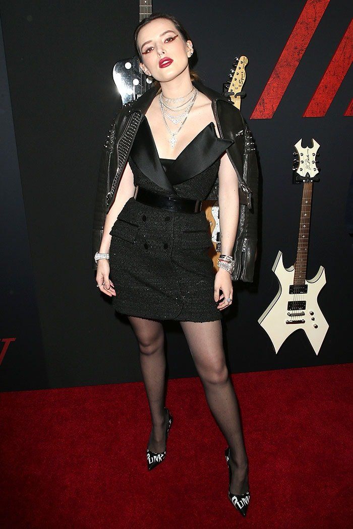 "Bella Thorne attending Netflix's ""The Dirt"" film premiere at ArcLight Hollywood in Hollywood, California, on March 18, 2019"