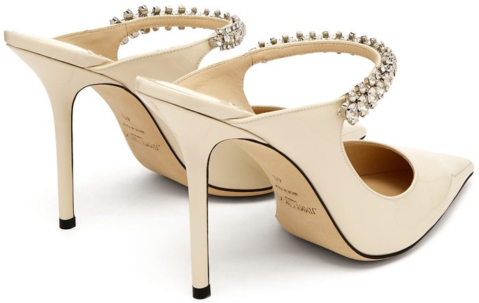 They're Italian-crafted to a sharp point-toe silhouette and set on a leg-lengthening pencil-sharp stiletto heel
