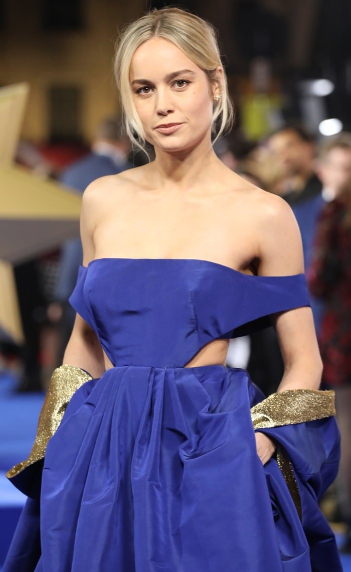 Brie Larson with earrings by Graziela Gems and Sara Weinstock