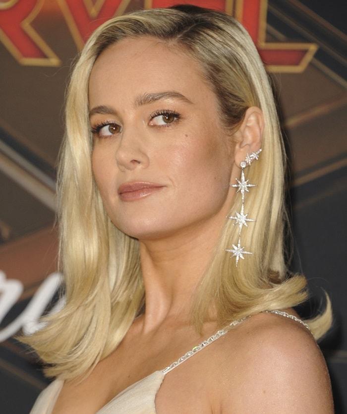 Brie Larson's sparkling star-shaped earrings