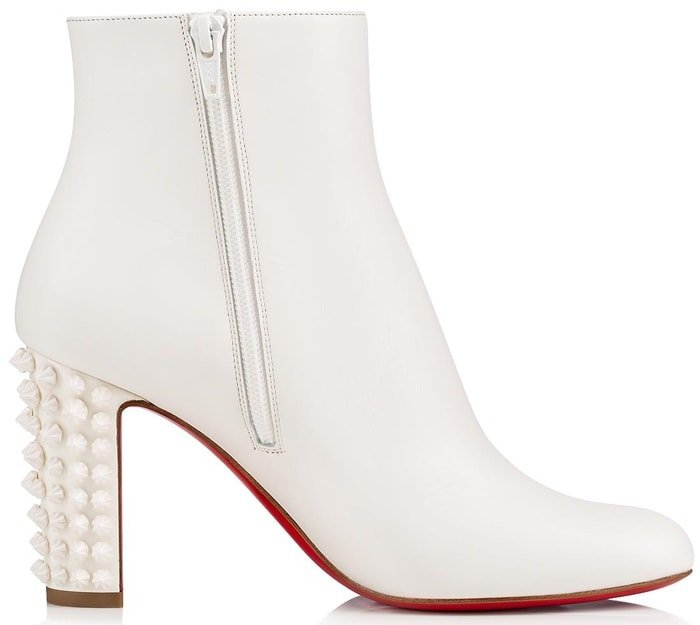 Snow White Suzi Folk Leather Red Sole Booties
