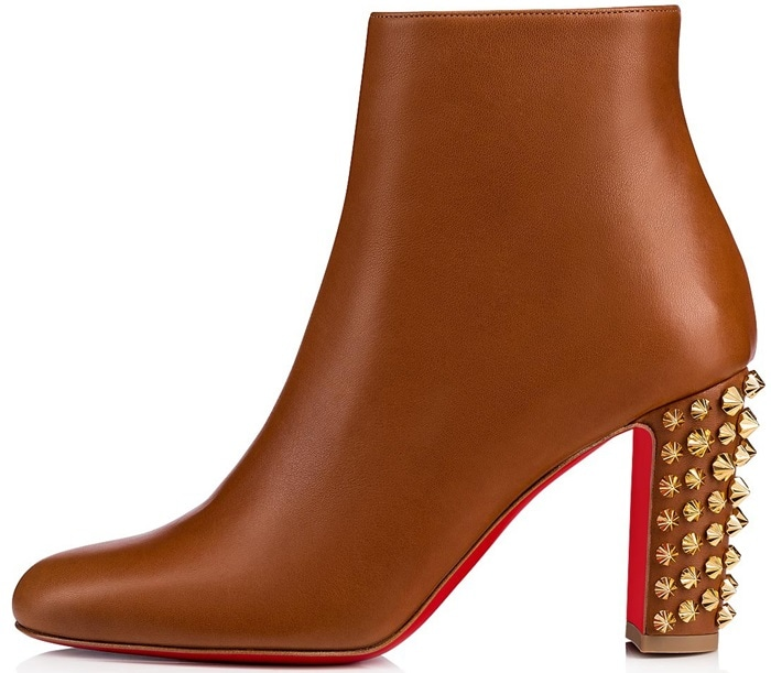 4519af331d9 Studded Heel Adds Edgy Cool to Suzi Folk Leather Booties | BestShoes