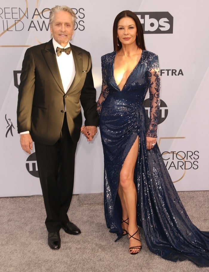 Catherine Zeta-Jones with her husband Michael Douglas at the 2019 Screen Actors Guild Awards held at the Shrine Auditorium in Los Angeles on January 27, 2019