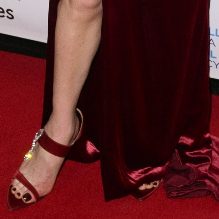 Catherine Zeta-Jones tortured her feet in shoes from Chloe Gosselin