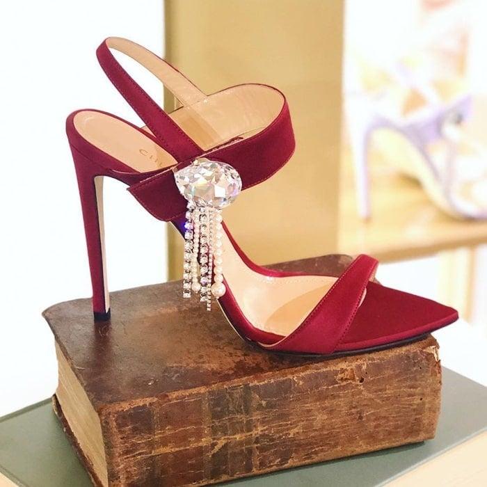Swarovski Embellished Tori Sandals by Chloe Gosselin