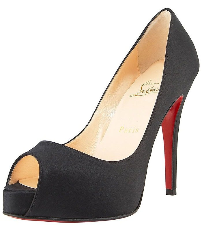 Christian Louboutin 'Very Prive' Peep-Toe Platform Pumps