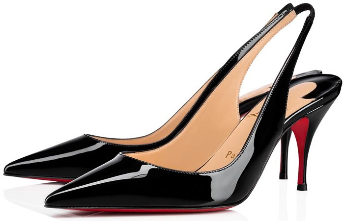The slingback straps are elasticated to ensure they don't slip down as you walk