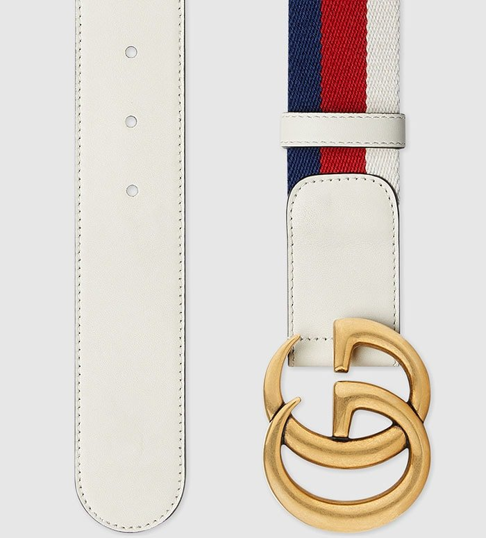 Stitch perfection: luxury belts such as Gucci's have no room for flaws